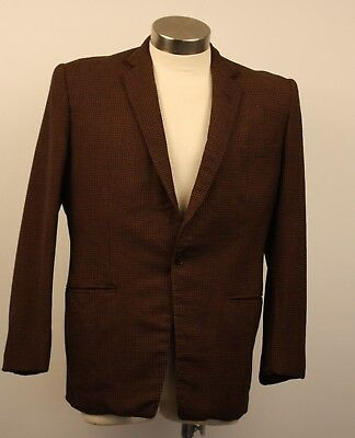 MEDIUM, ORIGINAL VINTAGE 1960s TWEED MENS JACKET. 1 BUTTON CLOSURE. TAILOR MADE.
