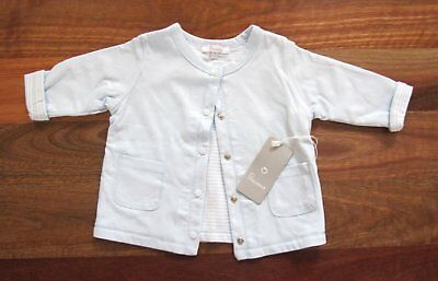 RRP $34.95 New Baby Boy Size 00 (3-6 Mths) Blue Jacket/Cardigan by PLUM BABY
