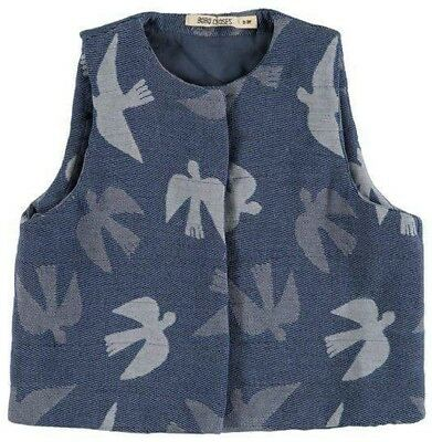 Bobo choses birds Gilet Vest size 8-9 fits 10-11 too #sundaymarket
