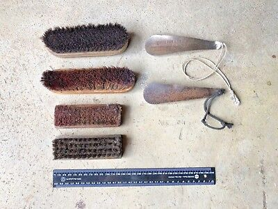 Vintage Shoe Brushes And Shoe Horns