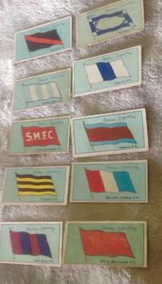 Capstan/Havelock football  team flags & rules  cigarette cards 1908 Lot of 10