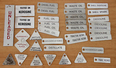 Shell Neptune And Other Oil Identification Tags Nos Aluminium Misc Lot