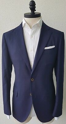 MJ Bale Navy 100% Pure Cashmere Blazer/SportsCoat 40 - Handmade in Japan - $1295