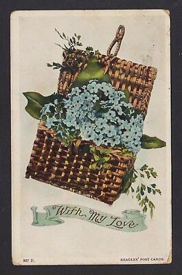 Australia Queensland Post Card With My Love Local Use 1908