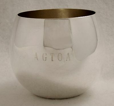 Vintage Mint Sparkling Sheridan Silverplate Agtoa Punch Or Julep Cup Greyhound