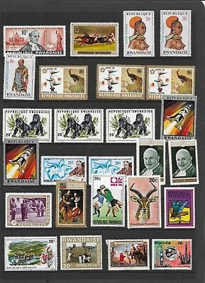 Two Scans Or Rwanda Stamps