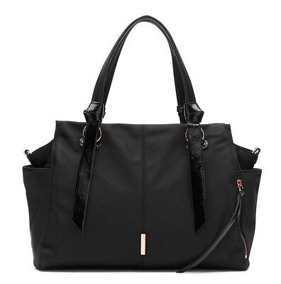Mimco Zen Baby Bag Weekender Duffle Nappy Travel Black new
