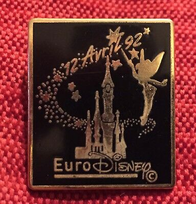 Pin's Euro Disney 12 avril 92 - Clochette Chateau Ouverture Disneyland Paris