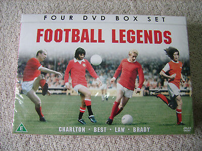 Football Legends - Best, Brady, Charlton And Law (DVD, 2013, 4-Disc Set) .