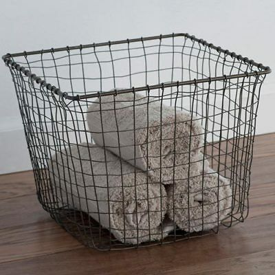 Medium Nest Storage Basket Laundry Clothes Bathroom Bedroom Holder Wired Contain