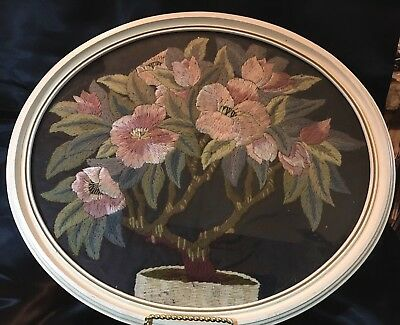 c1880s ROYAL SOCIETY EMBROIDERY~Exquisite~BEST COLORS! FRAMED~16.5 x 14.5!