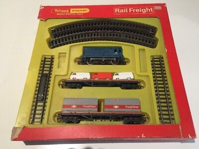 Vintage Triang Hornby Rail Freight Train Set Rs89 Ho Scale 1969