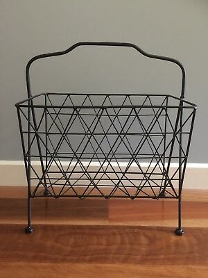 Magazine Rack Black Metal. Like New... Pick Up From Vermont 3133 RRP $79.00