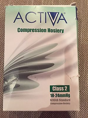 Activa Compression Hosiery Class 2 18-24mmHg Thigh Length Black Small