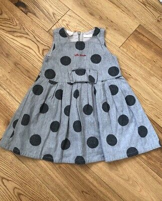Tutto Piccolo Spanish Grey Spotty Dress 18 Months Baby Toddler Girls party