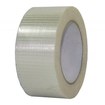 50mm x 50M 2 Rolls Of STRONG TOUGH CROSSWEAVE REINFORCED TAPE  Sellotape