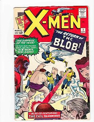 X-MEN #7 Sept 1964 THE BLOB and MAGNETO - Condition .5 PR Early X-Men GREAT ART