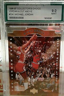 "1996'-97' "" JORDAN A CUT ABOVE"" # CA1 9.0 MINT GRADE collectors choice"