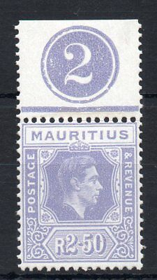 MAURITIUS GV1 2.50R SG 261b ORD MOUNTED IN THE MARGIN ONLY CLEAN