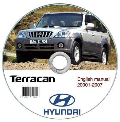 Hyundai Terracan 2001-2007 Workshop Manual Manual de Taller
