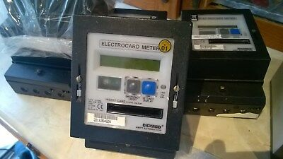 5 Ampy meters and 3 GEC meters used and 1 refurbished with a few cards