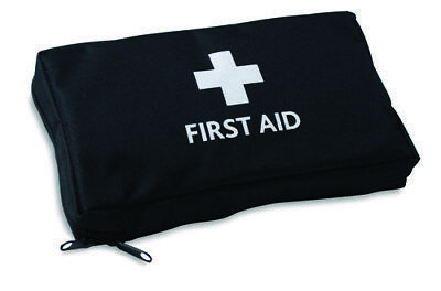 Empty Black Medical  / First Aid Pouch