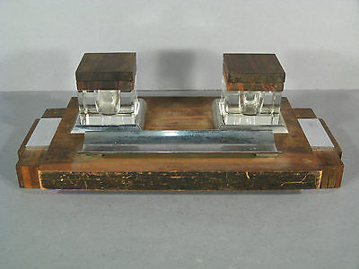 Inkwell Art Déco Antique / Inkwell Double Time 1925 / Inkwell Double Art Deco