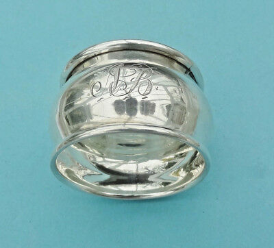 "Antique STERLING SILVER NAPKIN RING -Birmingham 1918 - Initial ""NB""-  A J Pepper"