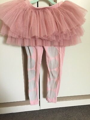 Size 6 Rock Your Baby/Kid dusty pink circus leggings