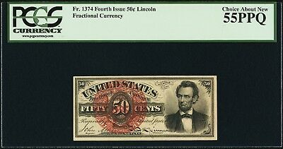 Fr.1374 50 Cents Fourth Issue Fractional Currency PCGS 55PPQ
