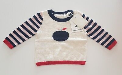 NEW Country Road Apple Knit Baby Girl Pullover Size 000 (0-3m) RRP44.95
