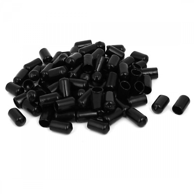 uxcell 10mm Inner Dia Rubber Hose End Cap Screw Thread Protector Cover Black 100