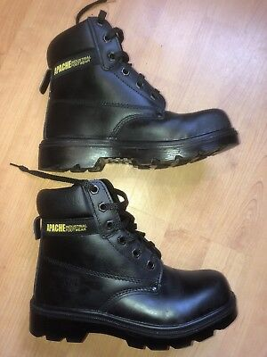 Apache Worker Safety Boots Size 4