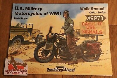 *** Squadron Signal No. 5707 US Military Motorcycles of WWII Walk Around ***