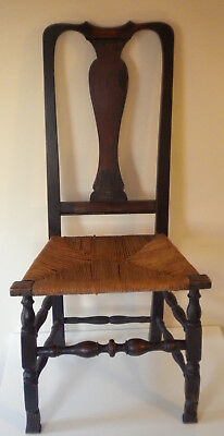 Antique Queen Anne colonial side chair, New England, ca. 1740s