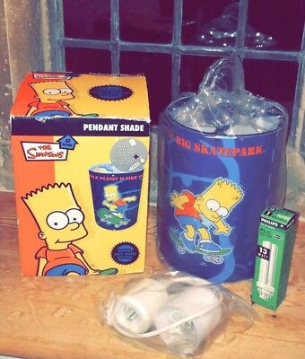 The Simpsons Pendant Light Shade Rare Limited Edition Boxed & Complete Mint!