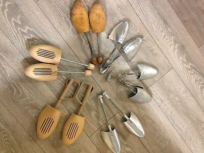 Vintage Shoe Trees Stretchers Made In England X 6 Pairs