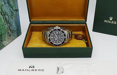 Vintage ROLEX Submariner Date Ref. 168000 Tritium 1986 + Expertise + Box - RAR