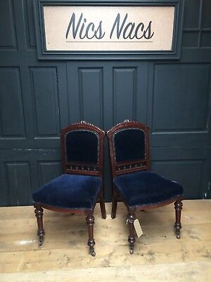 Beautiful Pair Of Antique Edwardian Chairs