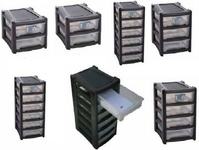 Plastic Shallow Drawer Storage Unit Cabinet Office Bedroom Organizer A4 Drawers