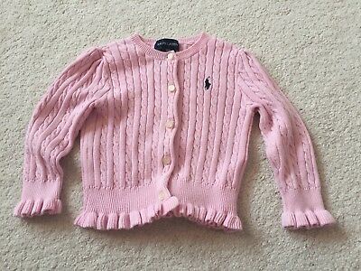 Baby Girls Pink Ralph Lauren Cardigan. Size 18 months. Excellent Condition