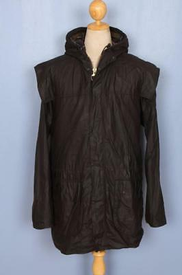 Mens BARBOUR Classic Durham Hooded WAXED Jacket Olive Size 48