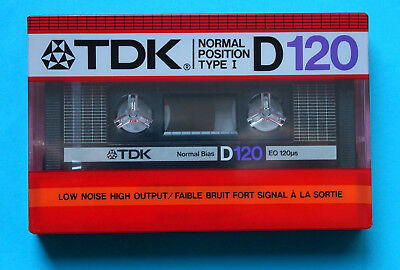 10x TDK D 120 Long Play Cassette Tapes 1985 in BOX + OVP + SEALED + US-Version +