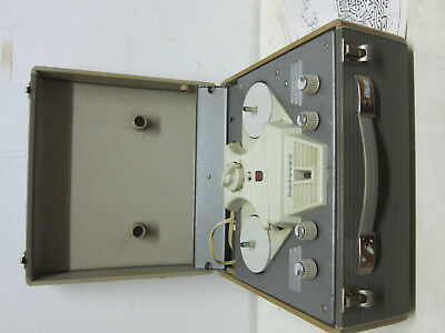 RETRO PHILIPS EL3527 Tape Tape recorder from 1959 (R569) with documentation