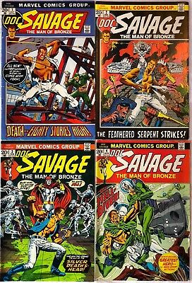 Marvel DOC SAVAGE - Lot of 8 ISSUES 1-8 1972 Great Condition 6.5 - 8.5