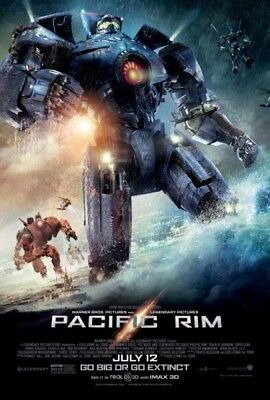 PACIFIC RIM - 2013 - orig 27x40 D/S Movie Poster - Reg Style B - CHARLIE HUNNAM