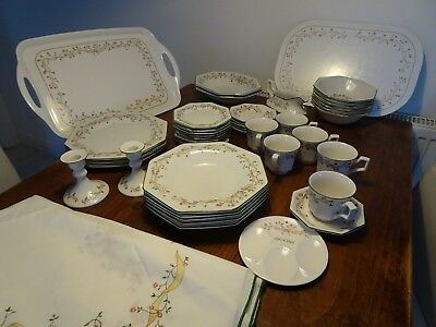 Johnson Brothers Eternal Beau 38 Piece Crockery Set, Tray, Mat and Tablecloth
