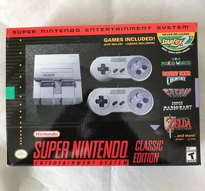 SNES Classic Edition - Super NES - Nintendo Entertainment System Console - New