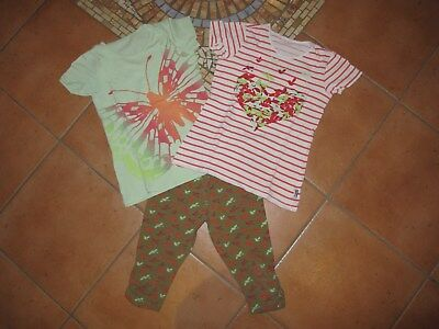 3x JAKO-O T-Shirts & 7/8 Leggings Kombination in tollen Farben Gr. 128/134 TOP