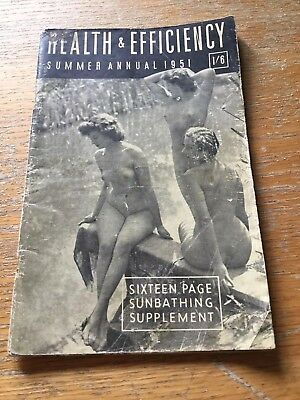 Health & Efficiency Summer Annual 1951.free U.k. P&p